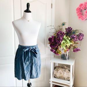 Le Lis Elastic High Waist Tie Skirt w/ Pockets